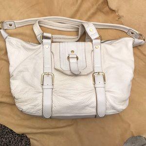"""White """"The Sak"""" leather purse"""